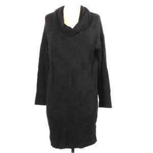 Dalia M Black Space Dye Cowl Neck Dress NWOT